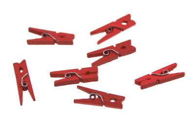 10 Wasknijpertje rood 2.5 cm