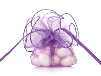Organza buidel paars