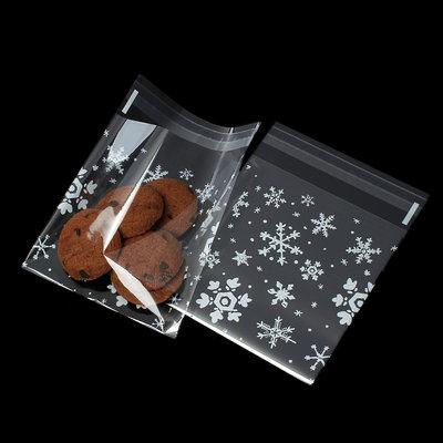 10 cellofaan zakjes met plakstrip ijskristallen
