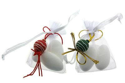Bedankje kerst met gelukspoppetje kerstbal