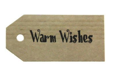 Kraft label warm wishes