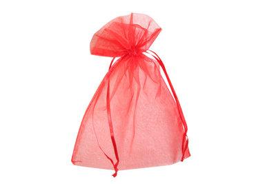Organza zakjes 5x7 cm rood