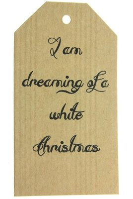 Kraft label xl i am dreaming of a white christmas