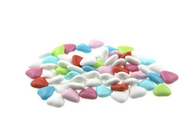 1 kilo Bruidsuiker hartvormig mini mix wit