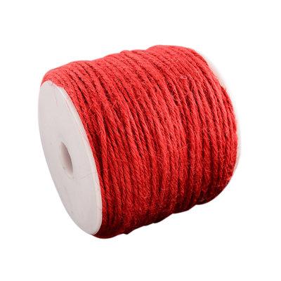 Hennep touw rood 100 meter
