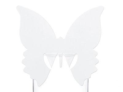 10 stuks Tafel plaats kaartjes voor glas vlinder