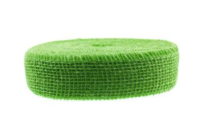 Jute lint lime groen per meter