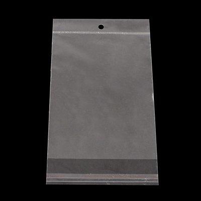10 cellofaan zakjes 12 x 21.5 cm MET OPHANGOOG