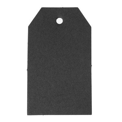 Label zwart 4 x 7 cm 10 stuks