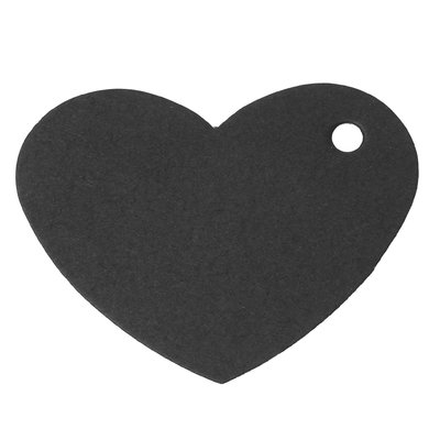 Labels hart zwart 10 stuks