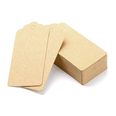 Kraft label 4.5 x 9.5 cm 10 stuks