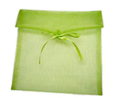 Organza enveloppe lime groen