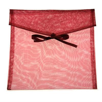Organza envelop bordeaux rood