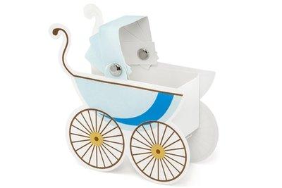 Doosje Kinderwagentje blauw