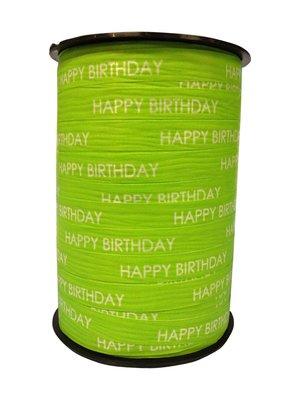 Krullint Happy birthday lime groen