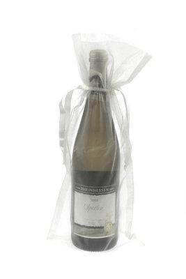 Organza wijnfleszak wit