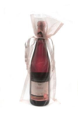 Organza wijnfleszak licht roze
