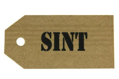 Kraft label sint
