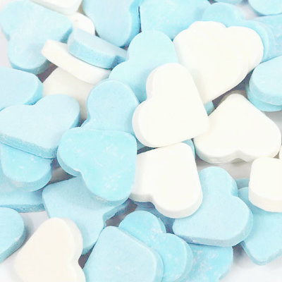 Reuze vruchtenharten wit-licht blauw fortuin