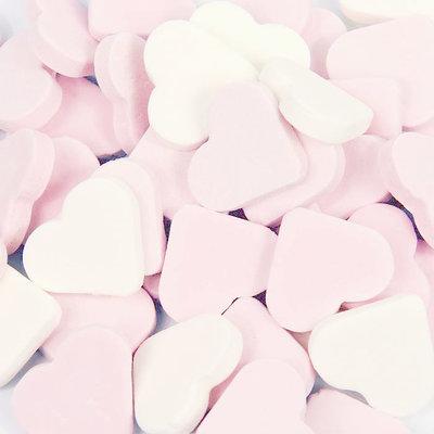 Reuze vruchtenharten wit roze fortuin