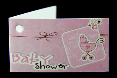 Kaartjes Babyshower roze