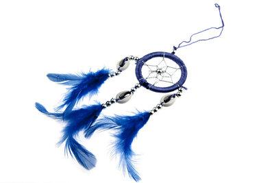 Dromenvanger 5 cm met schelpjes blauw
