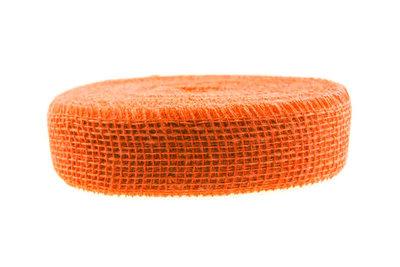 Jute lint oranje per meter