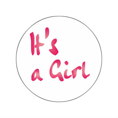 Ronde stickers it's a girl 10 stuks