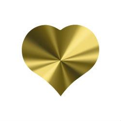 Hartjes stickers goud metalic 10 stuks