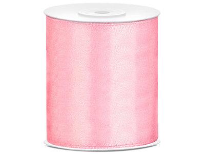 Roze satijn lint 10 cm breed