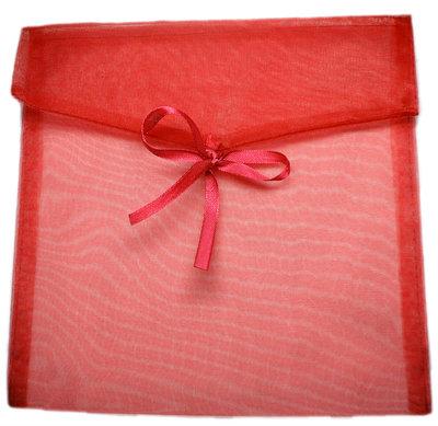 Organza enveloppe rood