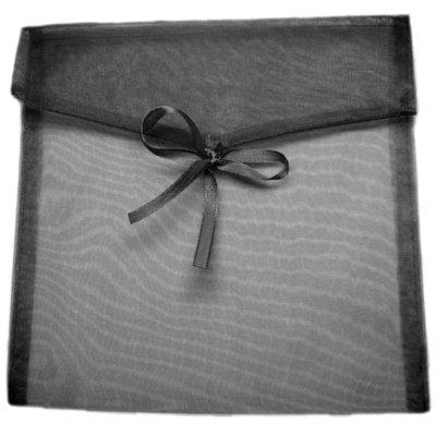 Organza enveloppe zwart