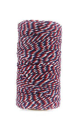 Bakkerstouw rood wit blauw 100 meter