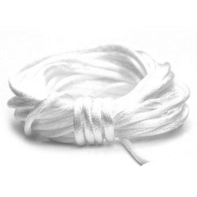 Satijnkoord 2 mm wit