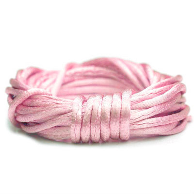 Satijnkoord 2 mm roze