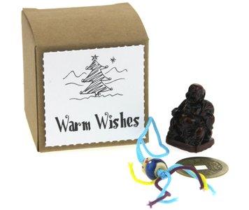 Kerstbedankje kraft kubusdoosje warm wishes