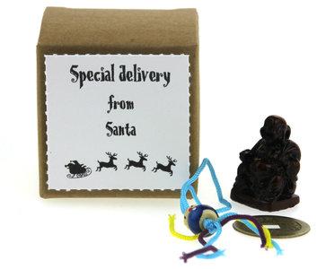 Kerstbedankje kraft kubusdoosje special delivery