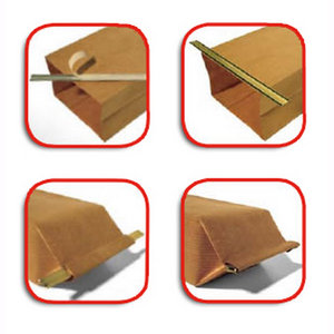 Zelfklevende sluitstrip goud voor blokzakjes