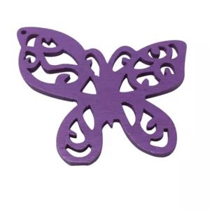 Houten vlinder paars