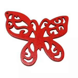 Houten vlinder rood