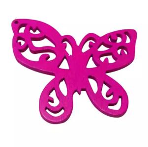 Houten vlinder fuchsia