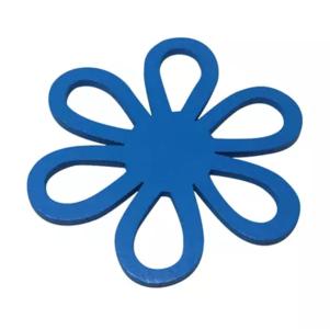 Houten bloem blauw
