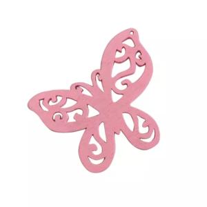 Houten vlinder roze