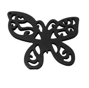 Houten vlinder zwart