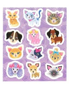 Traktatie stickers unicorn hondjes en poesjes