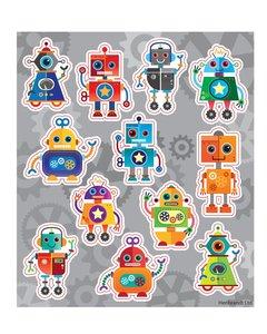 Traktatie stickers robot