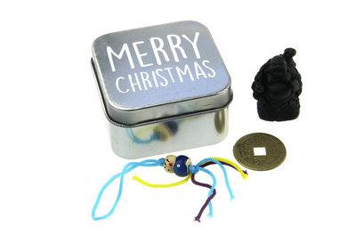 Geluksdoosje blikje merry christmas