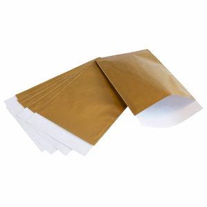 Goud papieren zakjes 7 x 13 cm