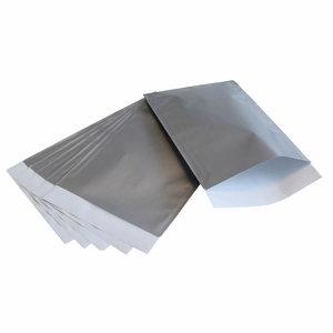 Zilver papieren zakjes 7 x 13 cm