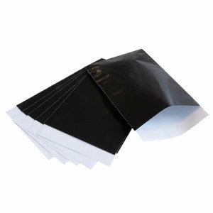 Zwart papieren zakjes 10 x 16 cm
